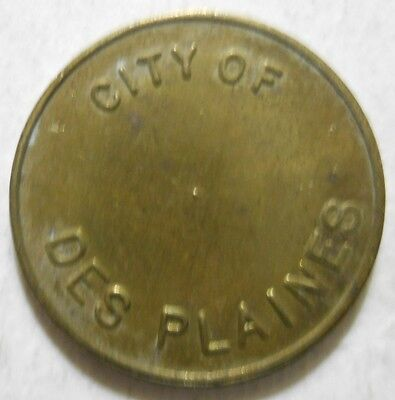 City of Des Plaines (Illinois) parking token - IL3205A