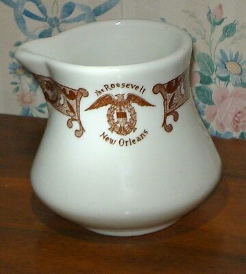 Roosevelt Hotel Vintage Creamer Coffee Expresso New Orleans La China Brown