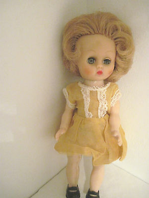 Blonde Cosmopolitan Vinyl Head GINGER Walker - Yellow Dress and Hat
