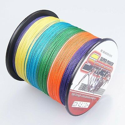 300M 40LB/0.32mm Multi-Color  Super Strong 100%PE  Dyneema Braided Fishing Line