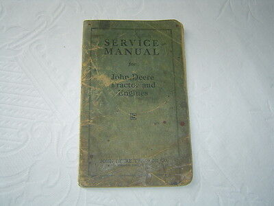 John Deere D tractor and stationary engine service manual