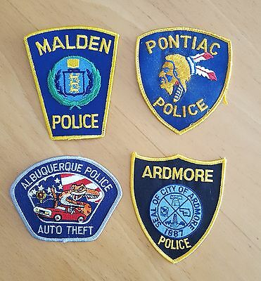 USA - 4 x Different Police Patches - 02