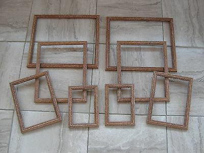 joblot of limed wooden picture photo collage frames x8