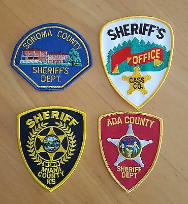USA - 4 x Different Sheriff Patches - 02