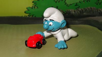 Smurfs Baby Smurf with Toy Red Car Rare Vintage Display Figurine Best Deal