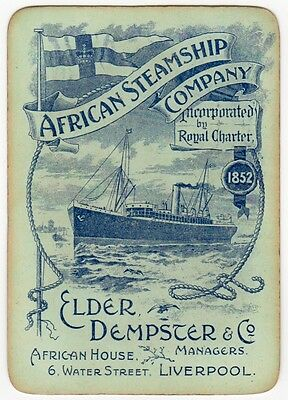 Playing Cards 1 Single Swap - Old Wide ELDER DEMPSTER Shipping AFRCAN STEAMSHIP
