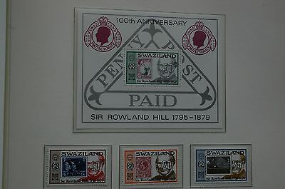 Stamps - Sir Roland Hill - Swaziland
