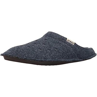 Crocs 5294 Mens Classic Navy Textured Mule Slippers Shoes 2 Medium (D) BHFO