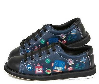 Youth Boys Linds Bot Bowling Ball Shoes Color Black Size  Sizes 3 & 5