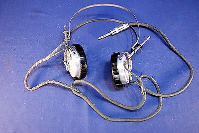 Vintage Brandes Matched Tone High Impedance Headset For Tube And Crystal Radio