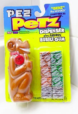 Rare Pez Petz Grinz The Monkey 1998 New In Package Candy Dispenser Cool Scarce