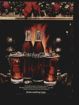 Coca Cola 1970 (two bottles and 2 glasses of Coke in the Christmas tree)