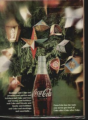 Coca Cola 1967 ad (a botthe of Coke in the Christmas tree)