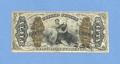 FR 1366 Third Issue 50 Cents Justice Fractional Currency Solid High Grade