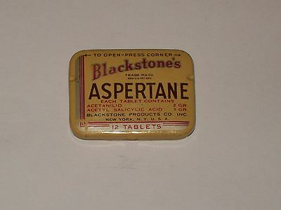 Vintage-Advertising-Medicine-Tin-Blackstone's-ASPERTANE-Aspirin-Tablets-Empty