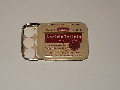 Vintage-Advertising-Medicine-Tin-McKESSON'S-Aspirin-Tablets-Full