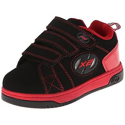 Heelys 2109 Boys Speed 2.0 Black Leather Casual Shoes Sneakers 3 Medium (D) BHFO
