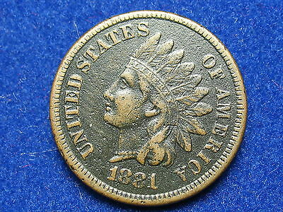 ESTATE SALE FIND VF 1881 INDIAN HEAD CENT PENNY w/ FULL LIBERTY & DIAMONDS #20