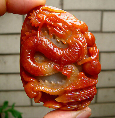HK Certified Grade A Type Red Icy Jadeite Jade Carved Dragon Pavilion 龙庭 Pendant