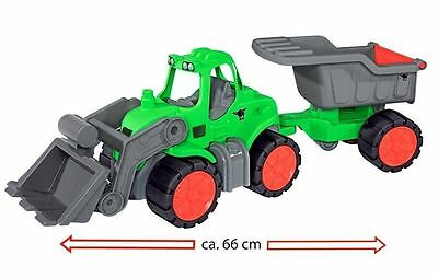 BIG KINDER SPIELZEUG POWER WORKER TRAKTOR - MULDENKIPPER 66cm LANG SOFT REIFEN
