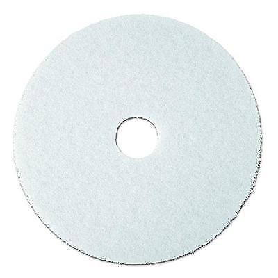 "3M White Super Polish Pad 4100, 20"" Floor Pad, Machine Use (Case of 5) New"