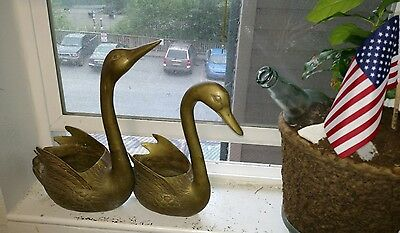 Home Decor Brass Geese * Unique Vintage Decor * Made in Korea * Lot of 2