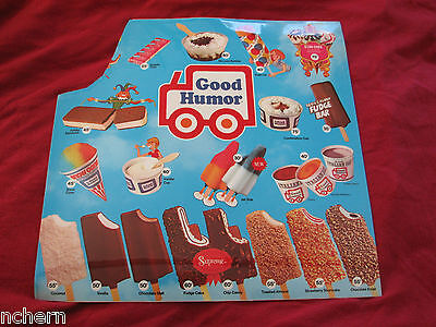 Vintage Good Humor Ice Cream Truck Menu: Unused/but Missing Corner. Very Rare.