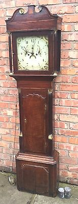 Beautiful Antique Oak And Mahogany Long Case GrandFather Clock