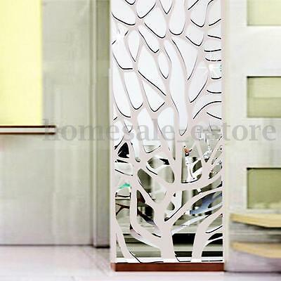 "39""x20"" 3D Acrylic Modern Mirror Decal Art Mural Wall Sticker Home Decor DIY"