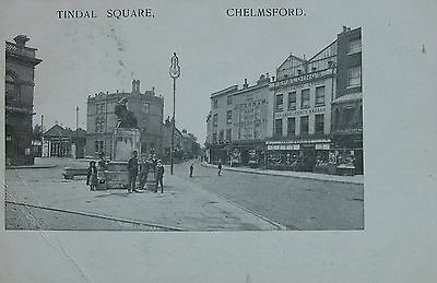 Fred Spaldings Photographic Studios & Tindal Square Chelmsford Essex 1906 Pc
