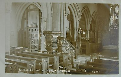 Church Interior Worsley Salford Manchester Lancs Early Rp Pc