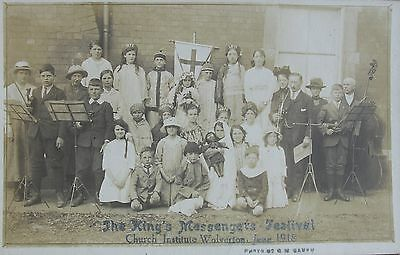 The Kings Messengers Festival Wolverton Buckinghamshire 1918 Rp Pc
