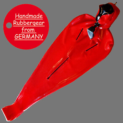 Latex Rubber Gum Studio Bodybag - with inflatable Mask - custom-made - BL01