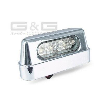 LED Number Plate Light Number Plate Light Licence Plate ILLUMMINATION in Chrome