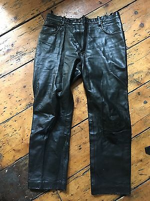 Vintage Belstaff Leather Trousers 34/36 Waist