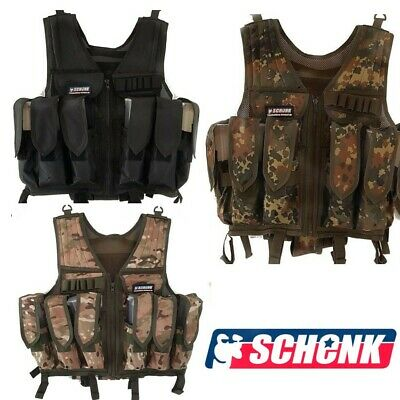 Paintball Weste Gotcha Tactical Swat Brustpanzer Kommandoweste  au. mit Dye Pods