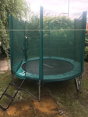 8Ft Trampoline With Enclosure And Ladder