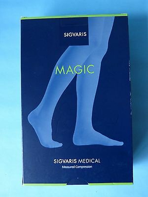 Sigvaris Magic Mg1 Medical Compression Open Toe Tights Small Black Normal - New