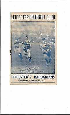 LEICESTER v BARBARIANS 27th DECEMBER 1950 GOOD CONDITION