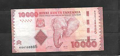 TANZANIA #44a 2010 VG CIRC 10000 SHILINGI BANKNOTE PAPER MONEY CURRENCY NOTE