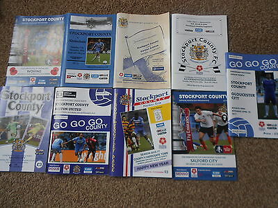 9 STOCKPORT COUNTY Home programmes,2016/17 Season.Edgeley Park.Excellent