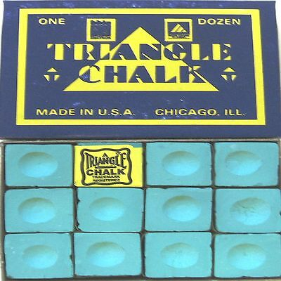1 x BOX OF GREEN Triangle Snooker or Pool Cue Chalk !!!    amazing value for $$$