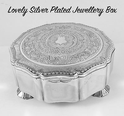 Beautiful Stratton Silver Plated Jewellery Casket