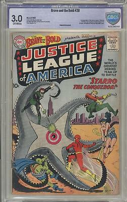 BRAVE AND THE BOLD 28 - CBCS 3.0 - 1st Justice League Of America - DC Comics