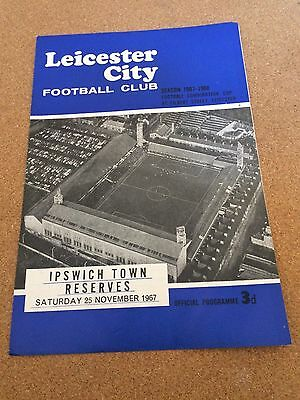1967 Reserves Leicester City v Ipswich Town 25/11/67