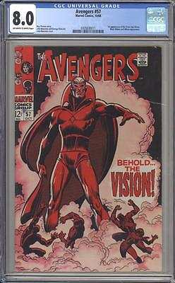 AVENGERS 57 - CGC 8.0 - First Vision Appearance - Marvel Comics