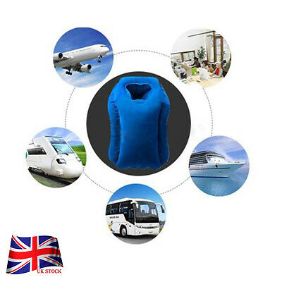 Inflatable Air Cushion Neck Support Pillow Travel Camping Home Accessories HUS