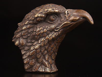Bronze Statue Carved Eagle Figurines Cane Walking Stick Head Handles Collectable