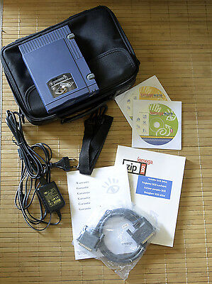 Iomega Zip 100 SCSI extern Drive • original Bag, cable and more! • NEAR MiND