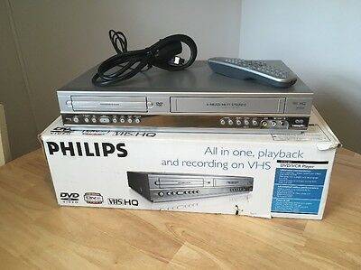 Philips DVP3100V DVD/VCR Player VHS Recorder Combi PAL inc Remote Boxed Retro